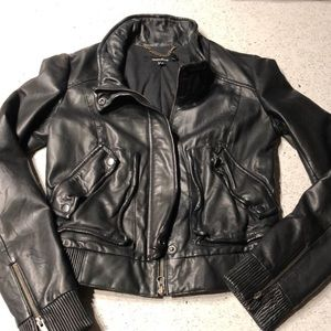 Muubaa leather bomber jacket